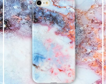 iPhone 8/7 Marble Case, TPU Marble Bumper Clear Marble design case for iPhone 7 iPhone 8 [Sand Marble]