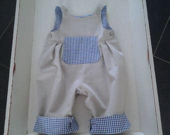 reverse gingham baby jumpsuit