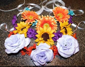 Boho Floral Headbands (customizable)