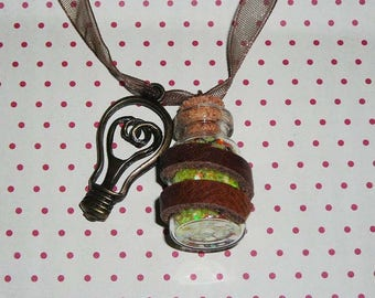 Lantern vial necklace
