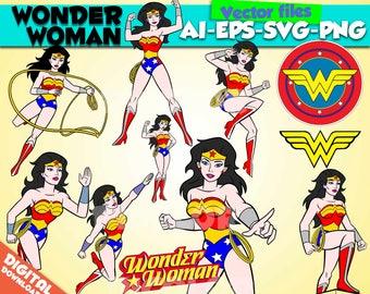 Wonder Woman svg Superheroes svg Wonder Woman clipart Wonder Woman party Wonder Woman birthday SuperWoman printable Wonder Woman digital png
