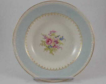 Homer Laughlin Georgian Eggshell Blue Soup Bowl