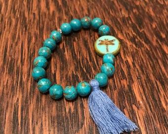 Turquoise Mala Bracelet