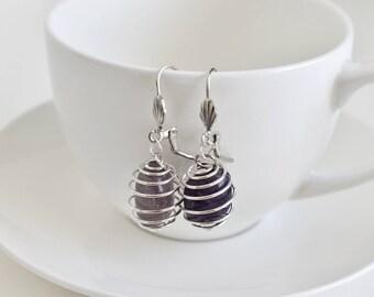 amethyst earrings | gemstone earrings