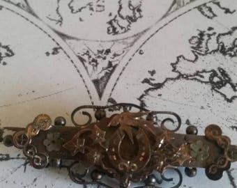 Unusual 1950's Vintage Brass Brooch