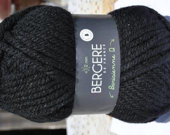 wool barisienne 12 color black Raven 10012 Bergère de france n ° 12