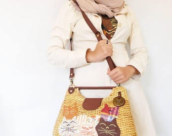 Rattan Kitty 2 way bag