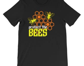 Protect The Bees Short-Sleeve Unisex T-Shirt