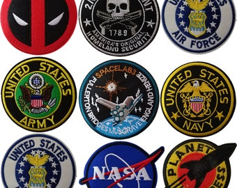 NASA Patch,Astronaut Patch,Space Patch,Planet Patch,Army Patch,iron on Patch set,embroidery patch,Navy patch,Air force patches