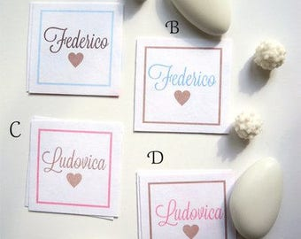 square cards 3.5 cm fantasies hearts