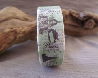 Washi tape Paris London Green