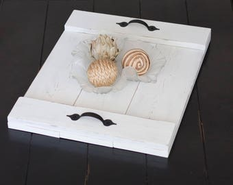 Serving Tray | Farmhouse Wood Tray | Rustic Serving Tray | Distressed Breakfast Tray | Rustic Decorative Tray | Wooden Tray