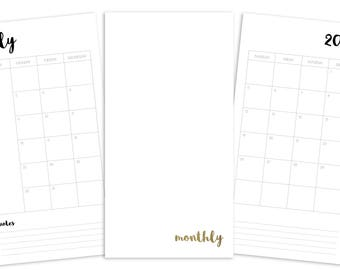 Standard March Weekly Printable Insert - TN - Plain Cover