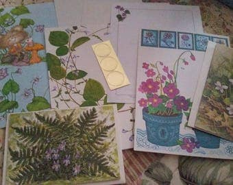 Vintage Stationery Collection ~ More Purple Violets Mini Collection