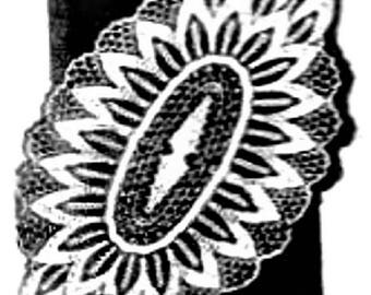 PDF Crochet Pattern, Pineapple Oval Doily