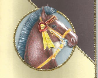 Animals, 3d card, handmade category horses - birthday, anniversary, thank you, get well, retirement, mother's day, horses