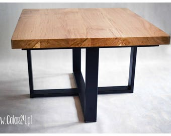 DESK OAK, modern style, natural wood, special construction, coffee table