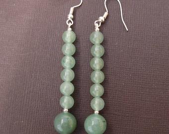 Aventurine 2 - gemstone earrings