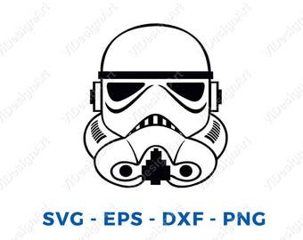 Star Wars Stormtrooper Darth Vader SVG DXF File for Cricut Design Space Cameo Silhouette Studio Vinyl Cut File Screen Printing Storm Trooper