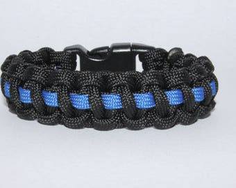 Thin Blue Line Paracord Bracelet