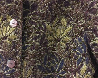 Vintage Floral Button Up Jacket/Blazer Size Extra Small Petite