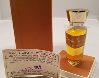 Vintage 1960's Capucci Parce Que Parfume 0.25 oz