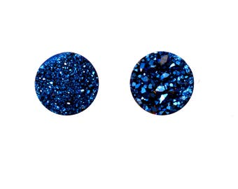 Agate Druzy Good Quality Agate Druzy Cabochons Loose Gemstone 7.90 Cts 10 mm 2 Pieces For Designer Jewelry - 4000