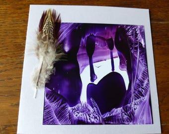 Map double violet-Grotte original Encaustic Painting
