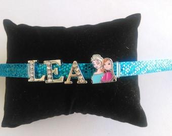 Personalized Bracelet / adjustable frozen LEA name