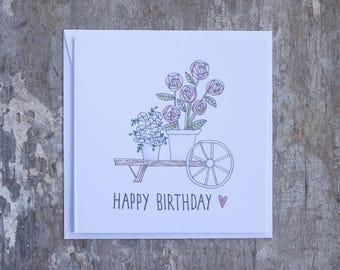 Happy Birthday Wheelbarrow
