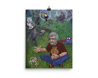 Terence McKenna stoned ape Poster