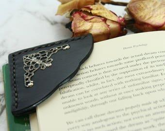 Leather Bookmark,  Corner Leather Bookmark, Bookmark, Leather Book Mark, Booklovers gift, Bookmarker, Place Keeper