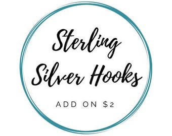 Sterling Silver Hooks - ADD ON