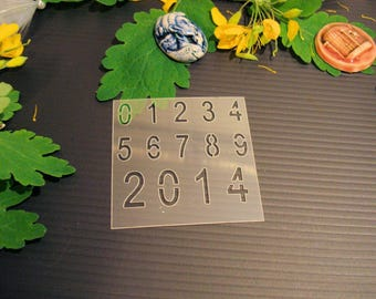 Stencil numbers P0184 for your pages, cards, your walls