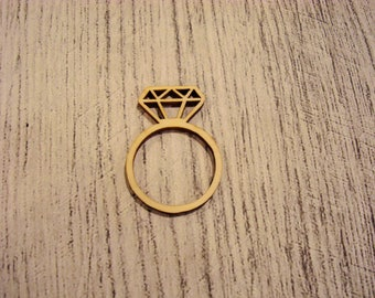 Ring diamant1220 embellishment wooden creations