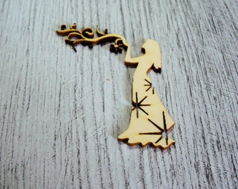 Woman stars 1078 a cut out of wood for your creation