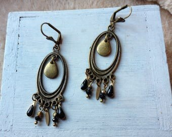 "Earrings handcrafted ""Twilight""."