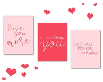 3 Love Quotes Valentine's Day Instant Download