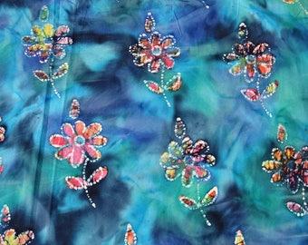 Indonesian BATIK ethnic 1OO % cotton fabric