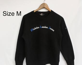Rare! Michiko London Jeans Sweatshirt