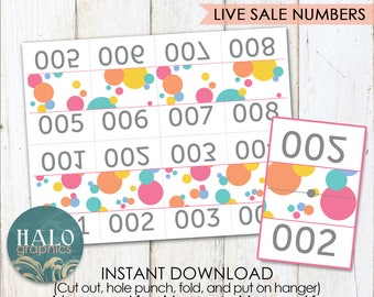 Live Sale Numbers - DOTS, Printable, 1-200