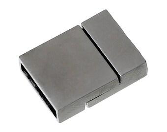 Magnetic clasp FR68 - rectangle gun metal color