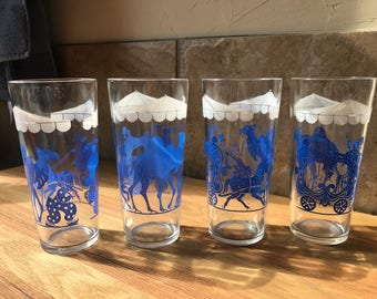 Vintage Circus Drinking Glasses