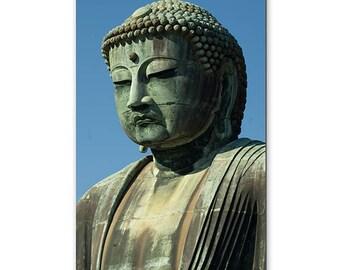 Canvas Print, Daibutsu Buddha In Japan, Travel, Asia, Photography, Statue, Kamakura, Buddhism, Art, Japanese