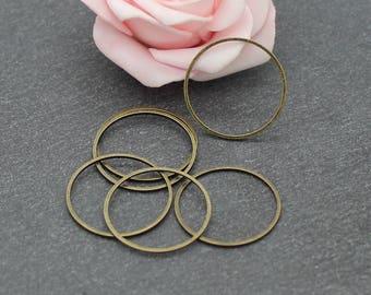 bronze COB202 22 mm x 30 round brass closed rings