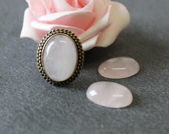 18 x 13 mm: cabochon oval rose quartz gc31