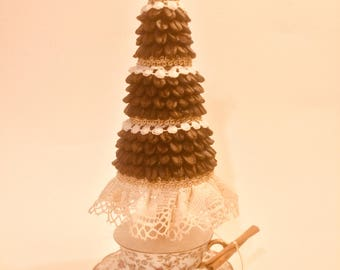 Christmas coffee topiary tree