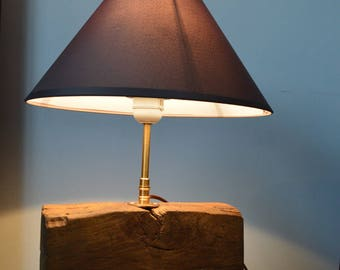 solid oak table lamp