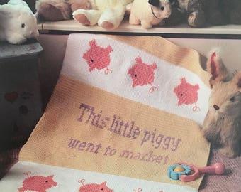 PDF Crochet/Cross-Stitch This Little Piggy Afghan