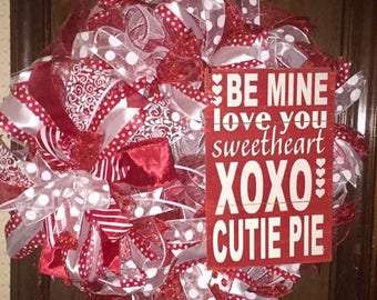 Red & white Valentine's or Anytime wreath